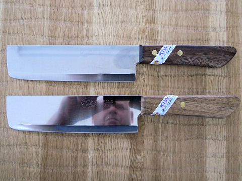 2 brand new Kiwi knives to use to compare Nubatama ume 320 and Bester 500